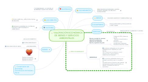 Mind Map: VALORACIÓN ECONÓMICA DE BIENES Y SERVICIOS AMBIENTALES