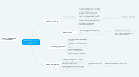 Mind Map: PROCEDIMIENTO PARA LA APROBACIÓN DE UN TRATADO