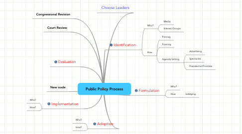 Mind Map: Public Policy Process