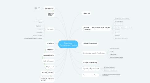 Mind Map: Principios Contratación Publica