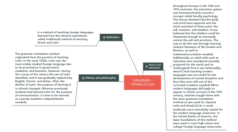 Mind Map: GRAMMER - TRANSLATION