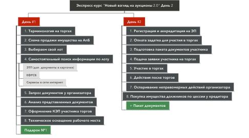 """Mind Map: Экспресс-курс """"Новый взгляд на аукционы 2.0"""" День 2"""