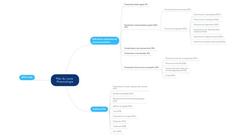 Mind Map: Plan du cours  Pneumologie