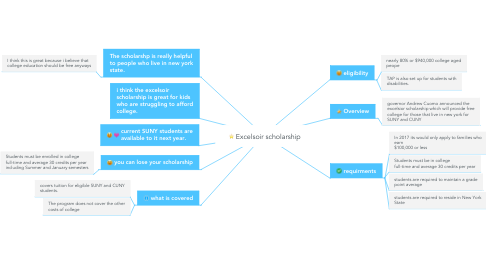 Mind Map: Excelsoir scholarship