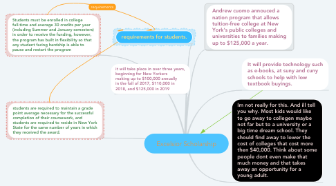 Mind Map: Excelsior Scholarship