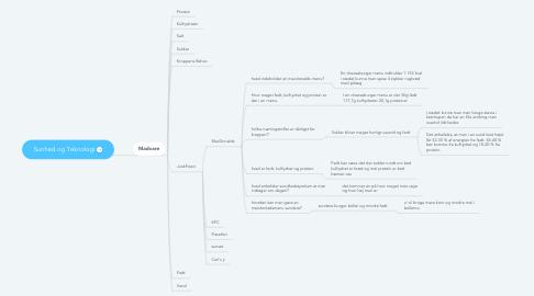 Mind Map: Sunhed og Teknologi