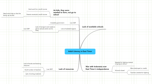 Mind Map: Adult Literacy in East Timor