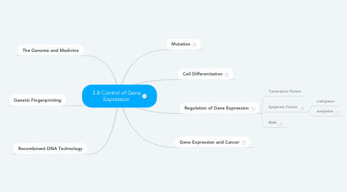 Mind Map: 3.8 Control of Gene Expression