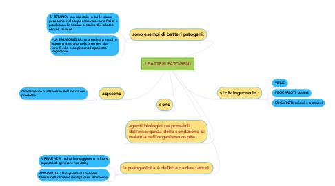 Mind Map: I BATTERI PATOGENI