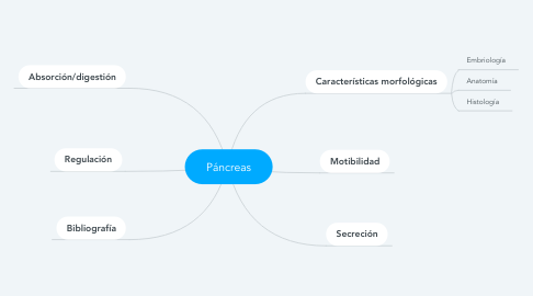Mind Map: Páncreas
