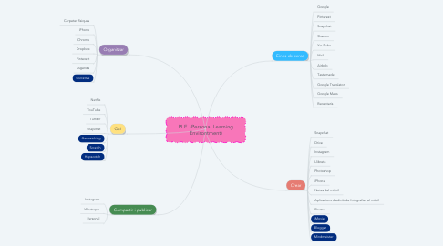 Mind Map: PLE  (Personal Learning Environtment)