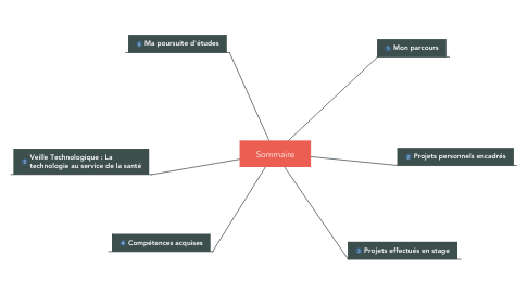 Mind Map: Sommaire