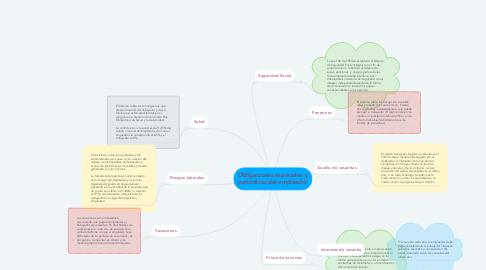 Mind Map: Obligaciones especiales y periódicas del empleador