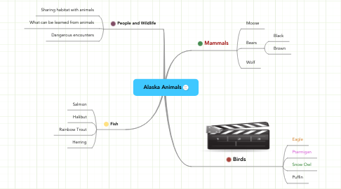 Mind Map: Alaska Animals