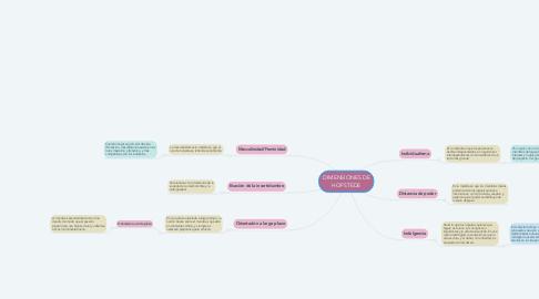 Mind Map: DIMENSIONES DE HOFSTEDE