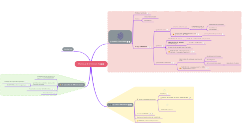 Mind Map: Physique & Chimie en Ts