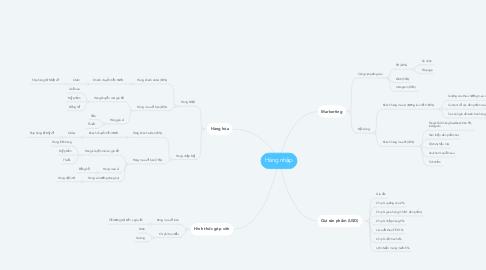 Mind Map: Hàng nhập