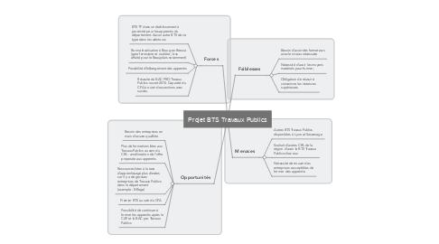 Mind Map: Projet BTS Travaux Publics