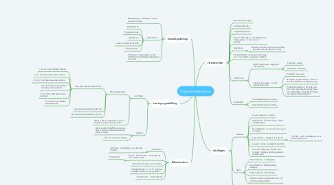 Mind Map: Kognitionspsykologi