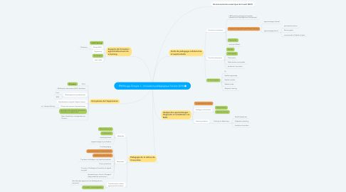Mind Map: IPM Rouge Groupe 1 - Innovation pédagogique horizon 2018