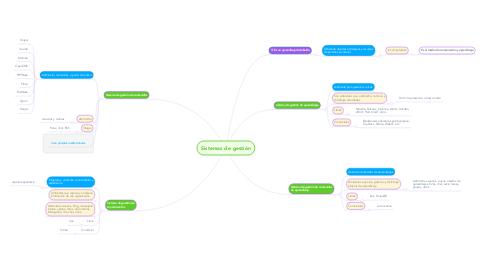 Mind Map: Sistemas de gestión