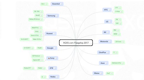 Mind Map: XQ55 Flasgship 2017