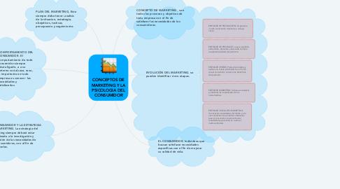 Mind Map: CONCEPTOS DE MARKETING Y LA PSICOLOGIA DEL CONSUMIDOR