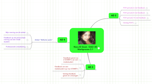 Mind Map: Nora El Gram  OAO 3D Werkproces 3.1