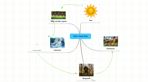 Mind Map: Tyler's food chain