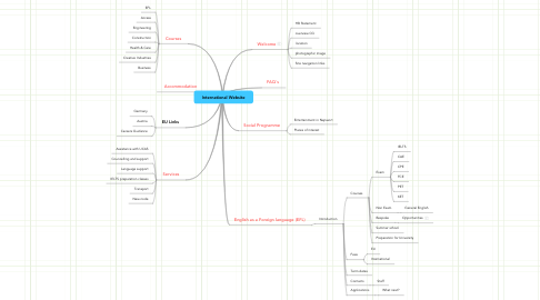 Mind Map: International Website