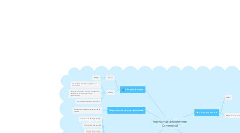 Mind Map: Insertion de département Commercial