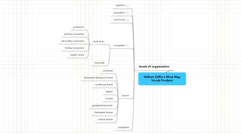 Mind Map: William Diffin's Mind Map Vocab Prodject