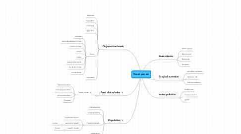 Mind Map: Vocab project