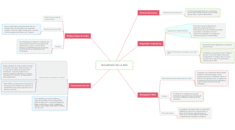 Mind Map: SEGURIDAD EN LA RED