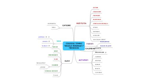 """Mind Map: COLEGIUL TEHNIC """"REGELE FERDINAD I"""" TIMISOARA"""