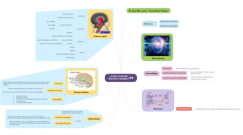 Mind Map: ¿COMO APRENDE NUESTRO CEREBRO?