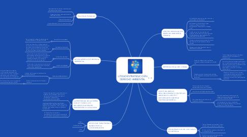 Mind Map: LITIGIO ESTRATEGICO EN DERECHO AMBIENTAL