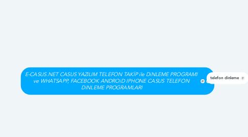 Mind Map: E-CASUS.NET CASUS YAZILIM TELEFON TAKİP ile DiNLEME PROGRAMI  ve WHATSAPP, FACEBOOK ANDROiD IPHONE CASUS TELEFON  DiNLEME PROGRAMLARI