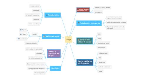Mind Map: Auditor frente a la nueva Era
