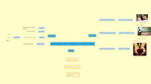 Mind Map: Mapa conceptual, sobre la clasificación de los Derechos Humanos