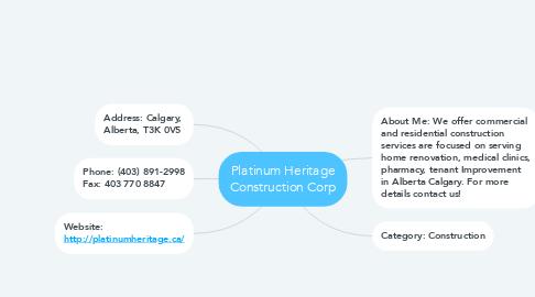 Mind Map: Platinum Heritage Construction Corp