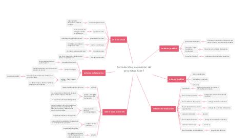 Mind Map: formulación y evaluación de proyectos. fase 1
