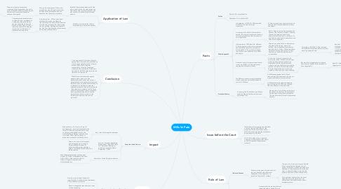 Mind Map: Mills Vs Pate