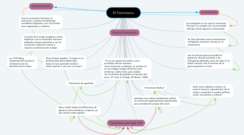 Mind Map: El Feminismo