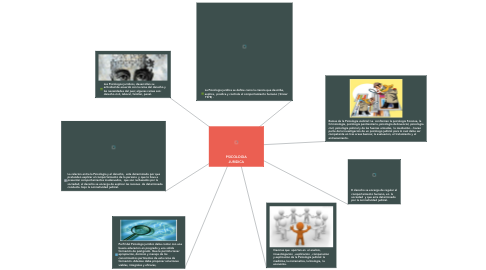 Mind Map: PSICOLOGIA JURIDICA