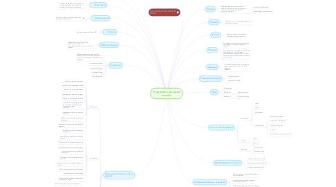 Mind Map: Programas y proyectos sociales