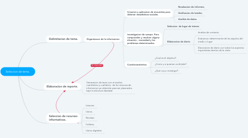 Mind Map: Seleccion de tema.