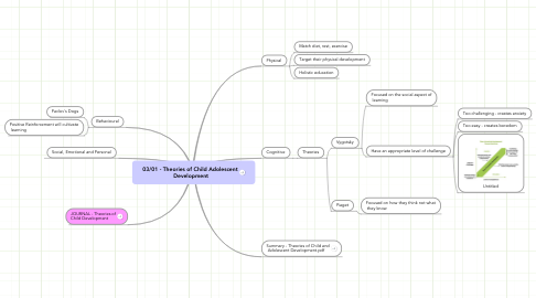 Mind Map: 03/01 - Theories of Child Adolescent  Development