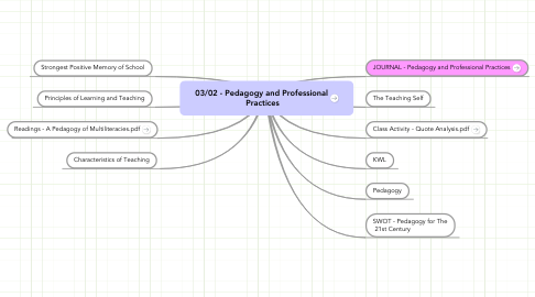 Mind Map: 03/02 - Pedagogy and Professional