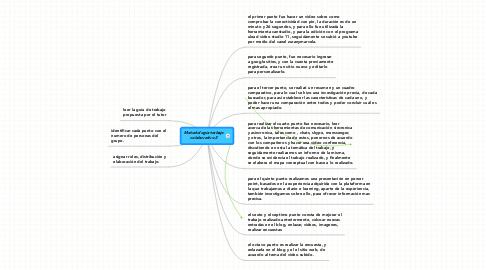 Mind Map: Metodología trabajocolaborativo 2